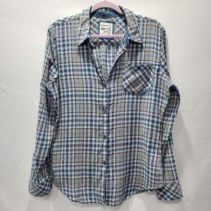 Kirra Plaid Flannel Button Down Shirt P150